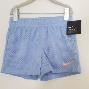 Nike Girl's Baby Blue Gym Shorts Size 4T  3-4Yrs.
